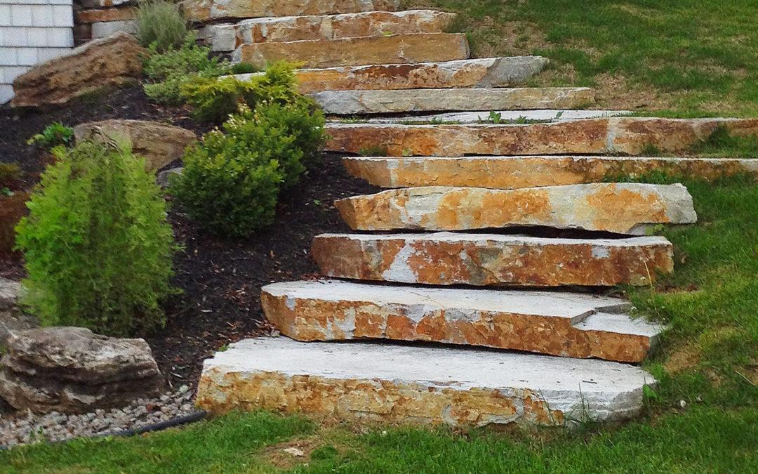 Escalier de pierres